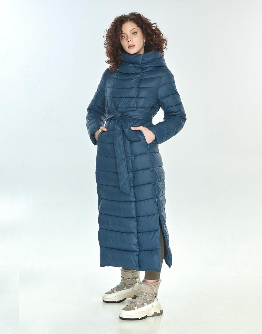 Практичная синяя куртка большого размера женская Moc M6210 фото 2