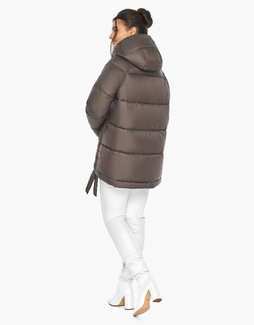 Воздуховик женский Braggart стильный зимний цвет капучино модель 43070 фото 6