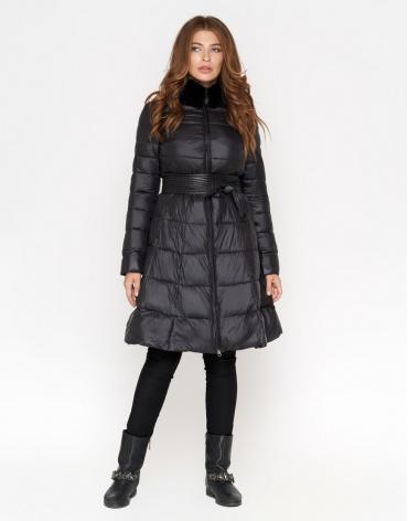 Куртка черного цвета женская комфортная модель 7319