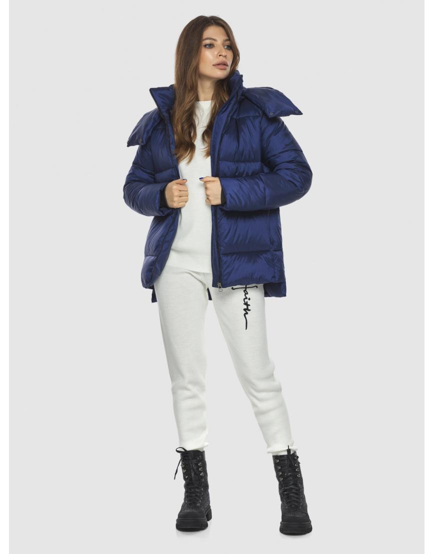 Синяя модная куртка женская Ajento 22430 фото 2