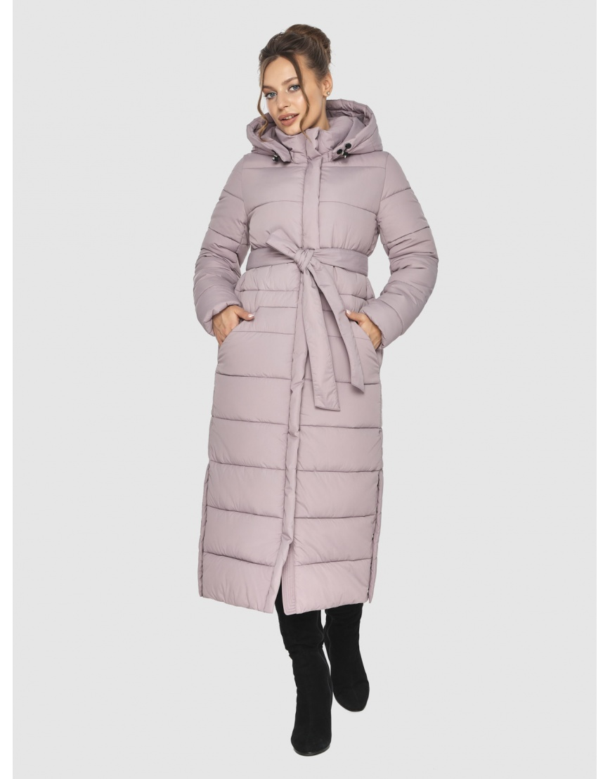 Тёплая пудровая куртка Ajento подростковая зимняя 21207 фото 3