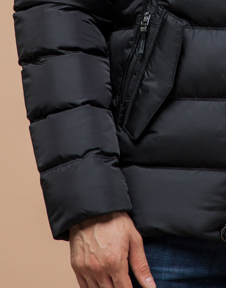 Куртка графитовая мужская на зиму модель 30380 оптом