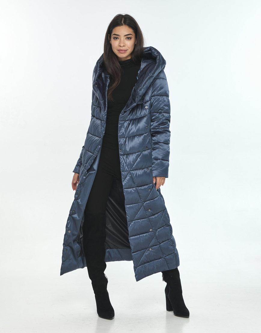 Комфортная зимняя куртка женская Moc цвет синий M6715 фото 1