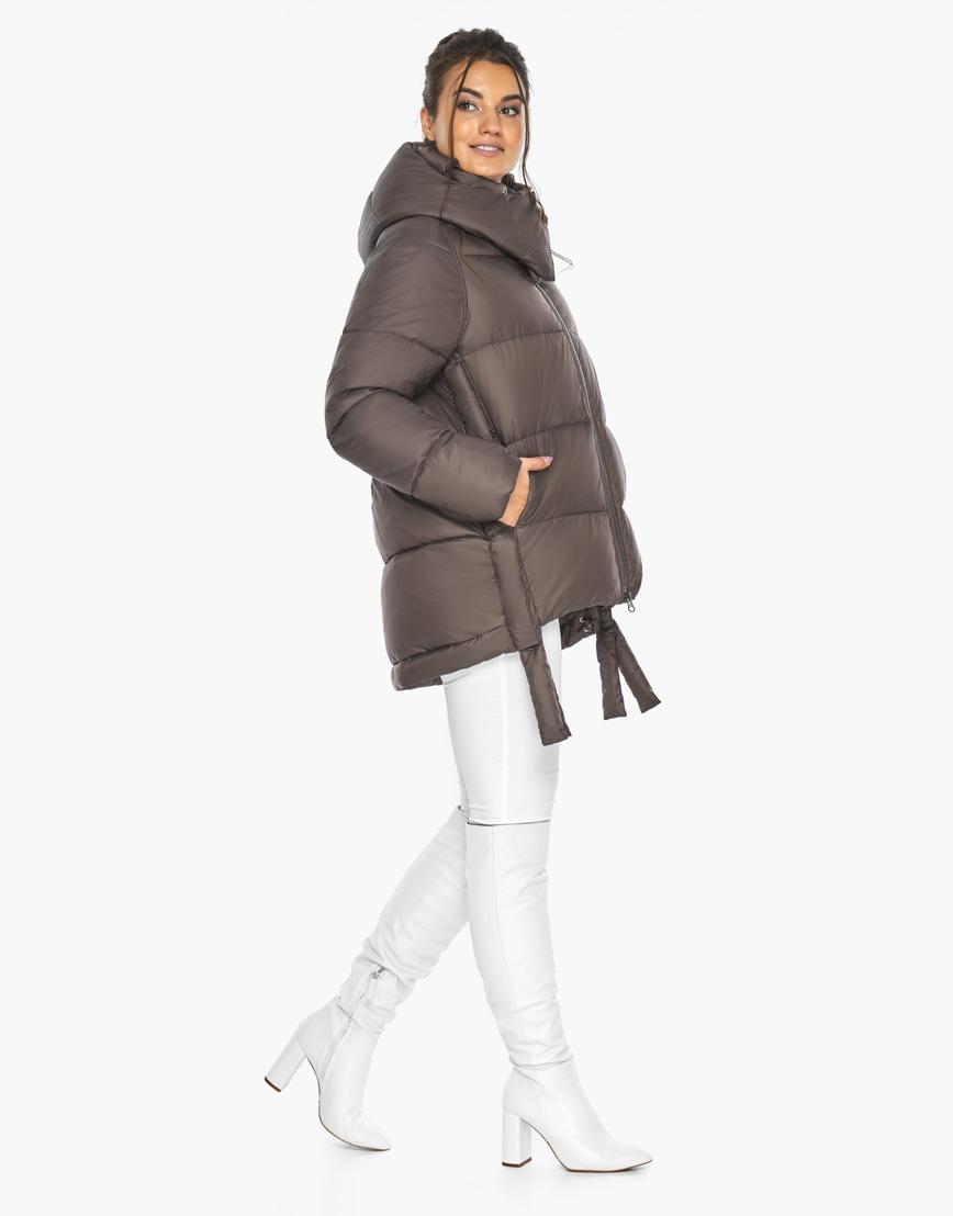Воздуховик женский Braggart стильный зимний цвет капучино модель 43070 фото 5
