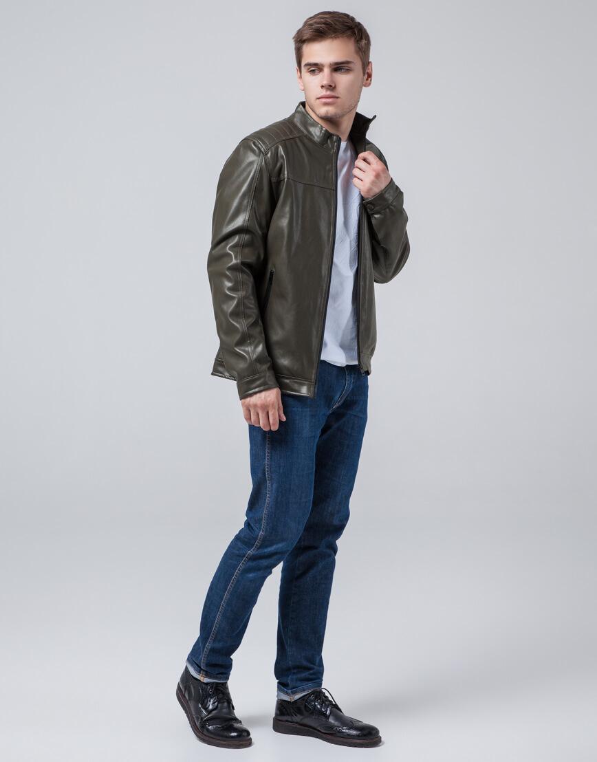 Фирменная куртка молодежная цвета хаки модель 4834 фото 3