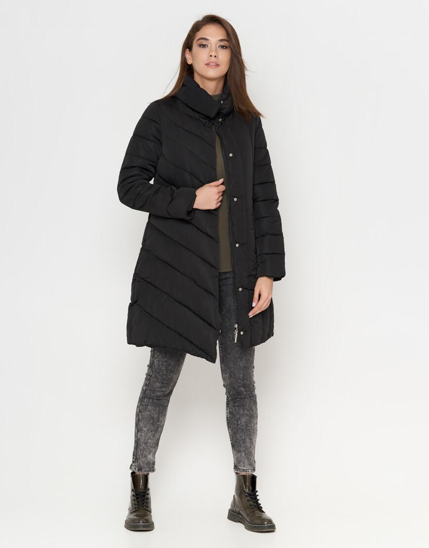 Черная теплая женская куртка модель 9082 фото 1