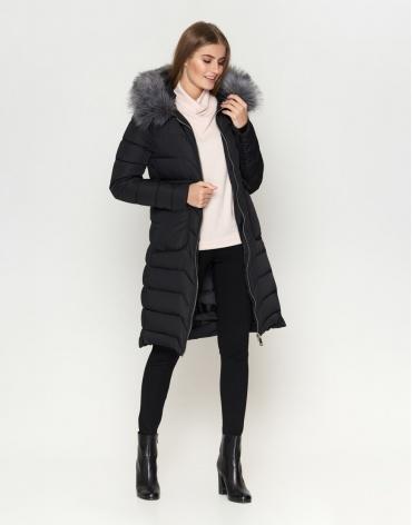 Куртка женская качественного пошива черная модель 6617
