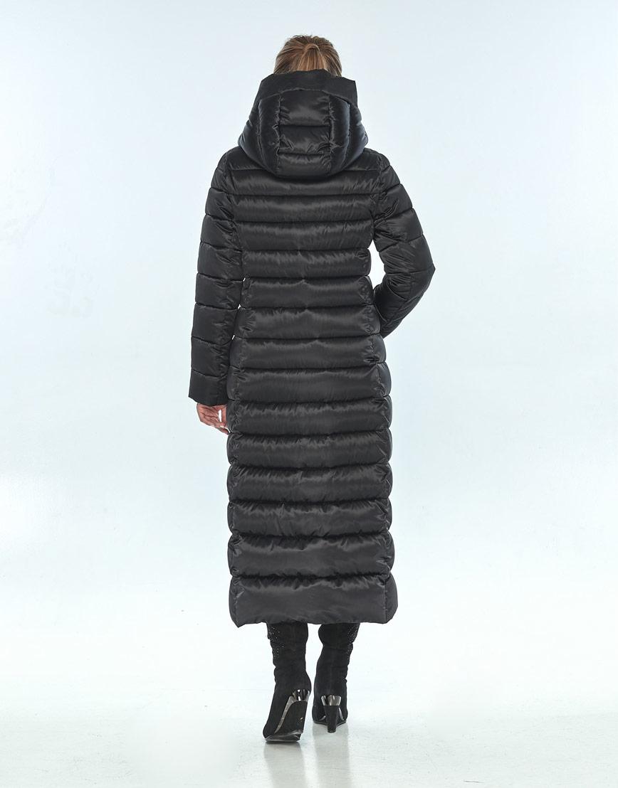 Чёрная куртка с капюшоном женская Ajento зимняя 23320 фото 3