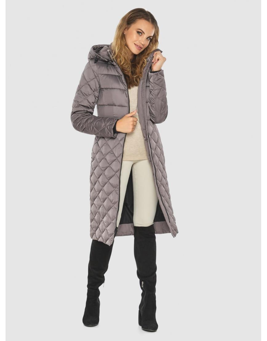 Пудровая женская удлинённая куртка Kiro Tokao 60096 фото 2