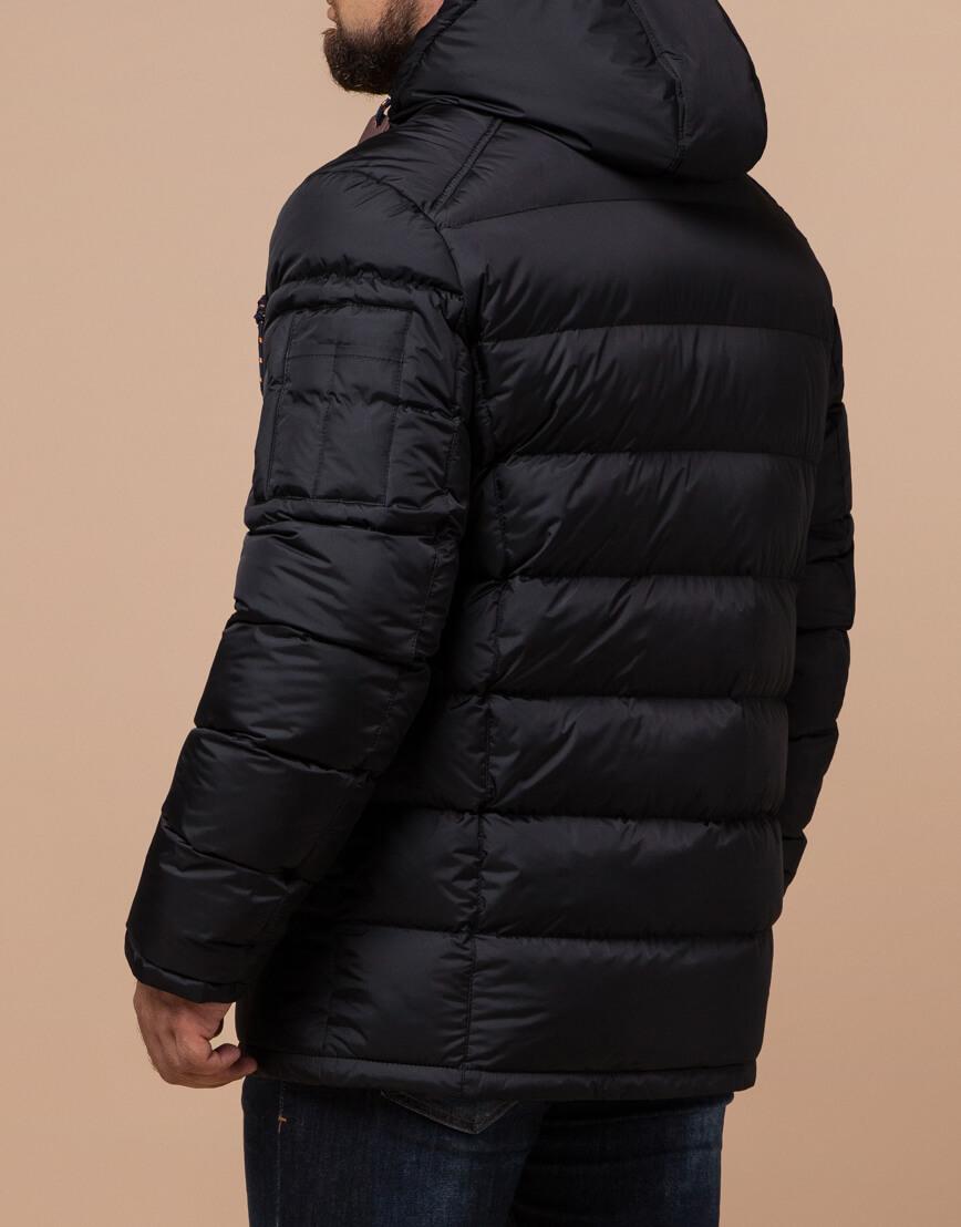 Зимняя куртка черного цвета модель 26402 фото 3