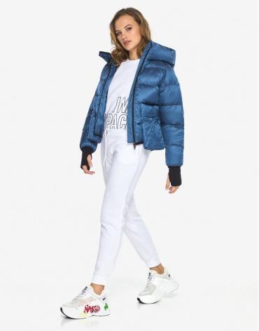 Пуховик куртка Youth молодежная стильная аквамариновая модель 26370 фото 1