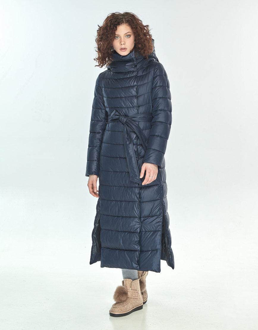 Зимняя куртка синяя женская Moc трендовая M6210 фото 2