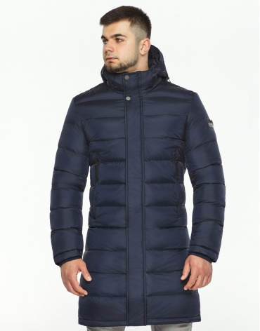 Куртка зимняя темно-синяя высококачественная модель 35680 фото 1