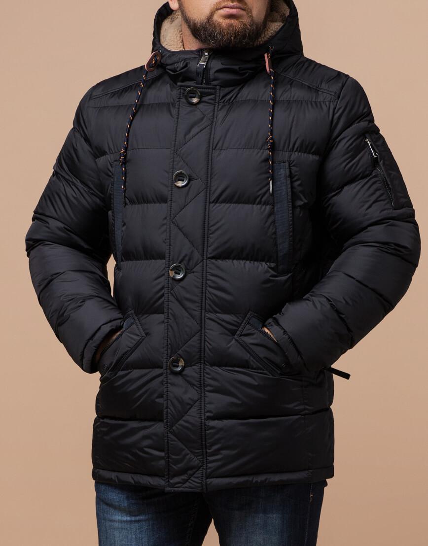 Зимняя куртка черного цвета модель 26402 фото 1