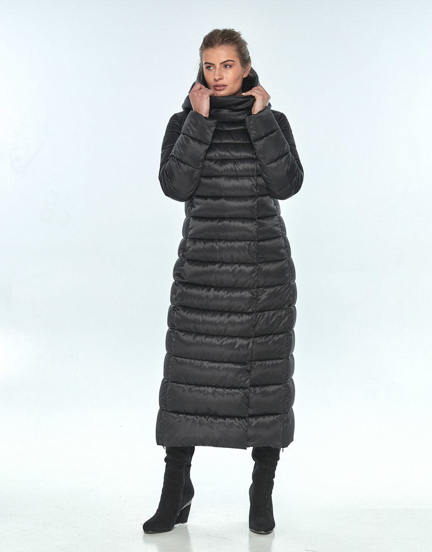 Чёрная куртка с капюшоном женская Ajento зимняя 23320 фото 1
