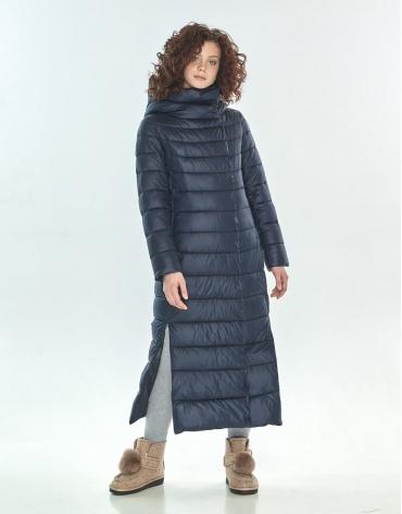 Зимняя куртка синяя женская Moc трендовая M6210 фото 1