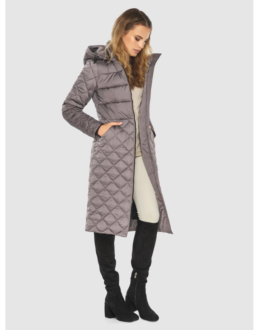 Пудровая женская удлинённая куртка Kiro Tokao 60096 фото 5