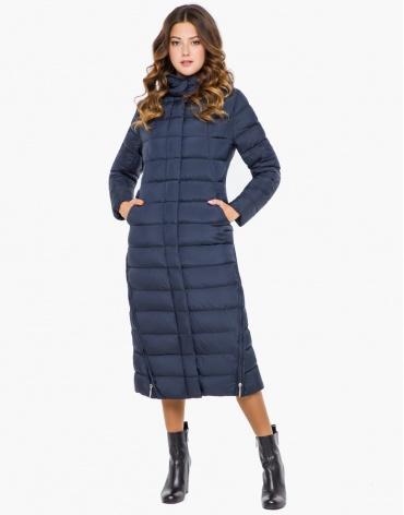 Женская синяя теплая куртка модель 7789