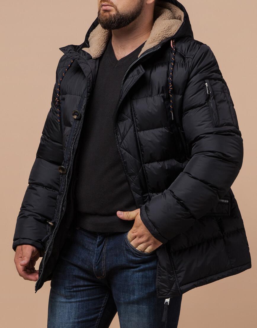 Зимняя куртка черного цвета модель 26402 фото 2