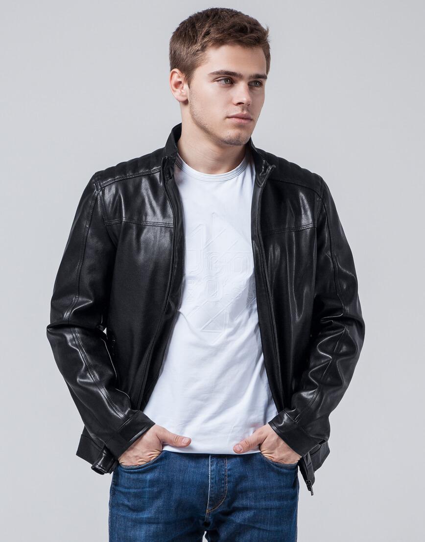 Черная куртка молодежная качественного пошива модель 4834