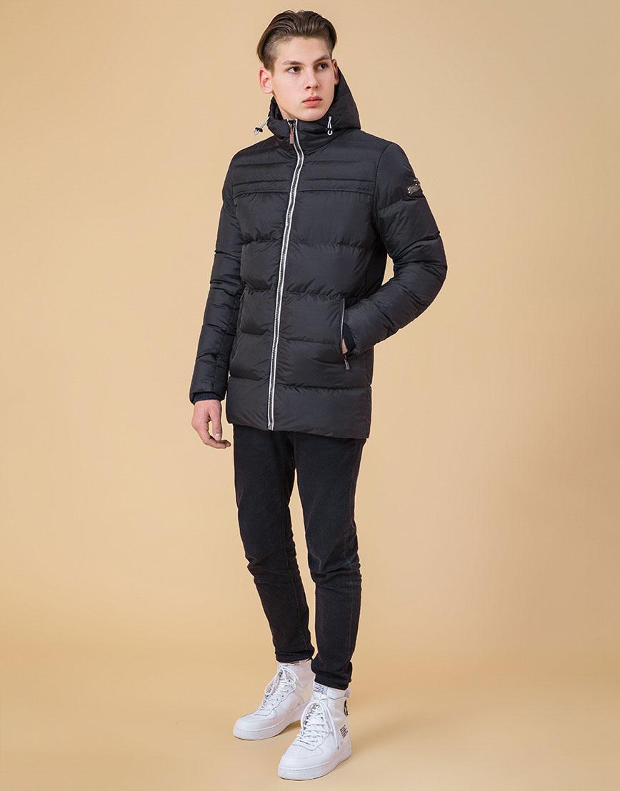 Куртка на молнии подростковая цвет графит-серый модель 71293