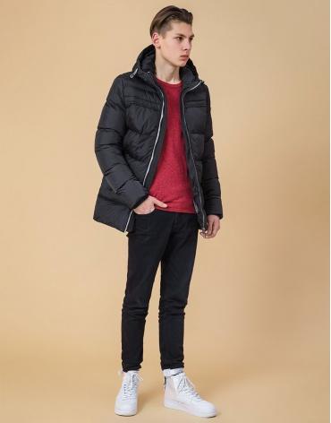 Куртка на молнии подростковая цвет графит-серый модель 71293 фото 1