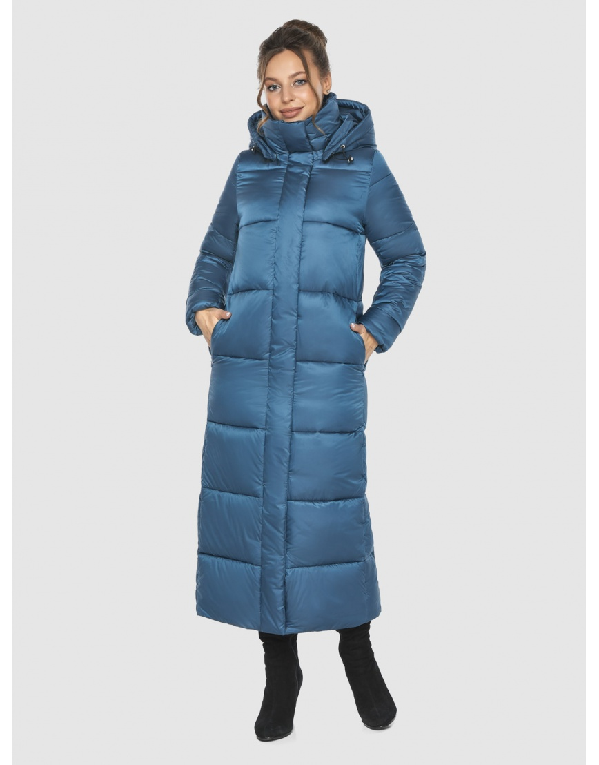 Куртка зимняя прямого силуэта подростковая Ajento аквамариновая 21972 фото 2