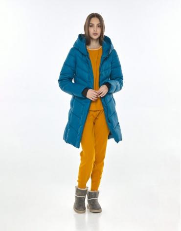 Аквамариновая трендовая куртка Vivacana женская осенняя 7821/21 фото 1