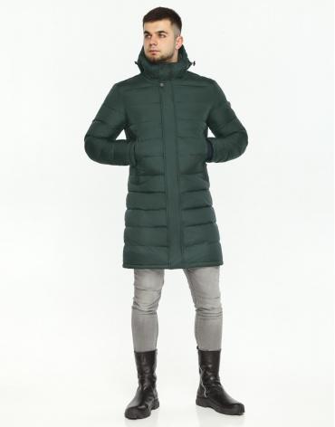 Темно-зеленая куртка современного дизайна мужская модель 35680 фото 1