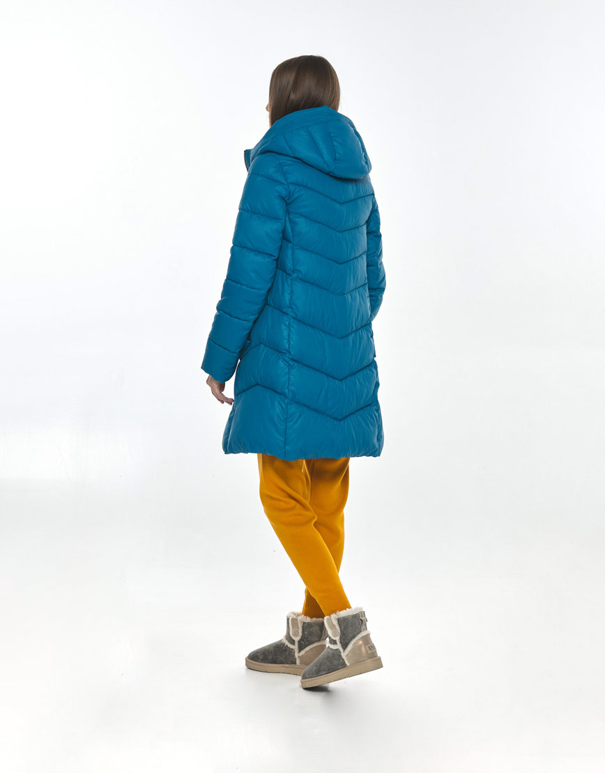 Аквамариновая трендовая куртка Vivacana женская осенняя 7821/21 фото 3