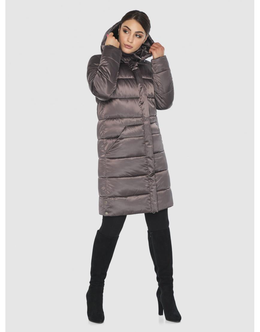 Длинная капучиновая женская куртка Wild Club 584-52 фото 5