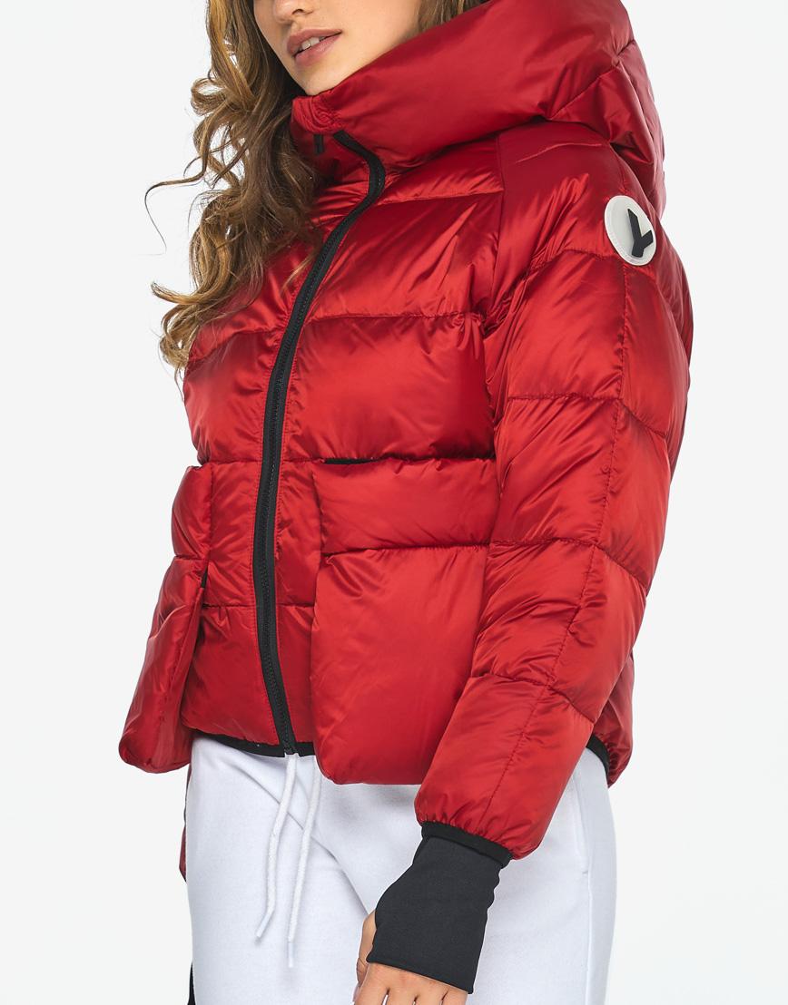 Куртка пуховик Youth трендовый молодежный рубиновый модель 26370 фото 8