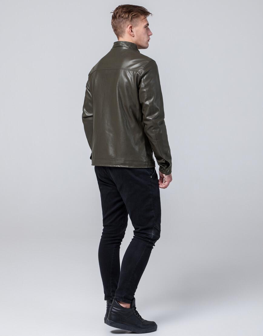 Осенне-весенняя куртка высококачественная цвета хаки модель 2825 фото 4