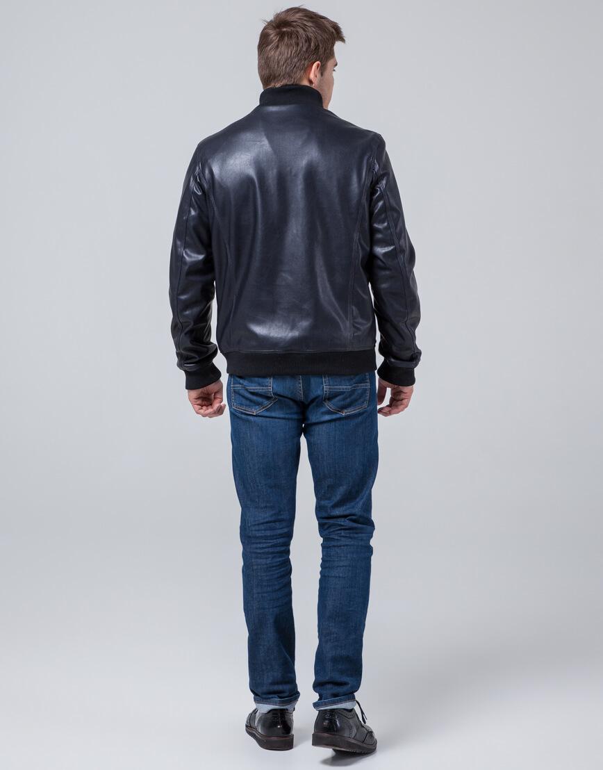 Куртка молодежная модного дизайна темно-синяя модель 2970 фото 4