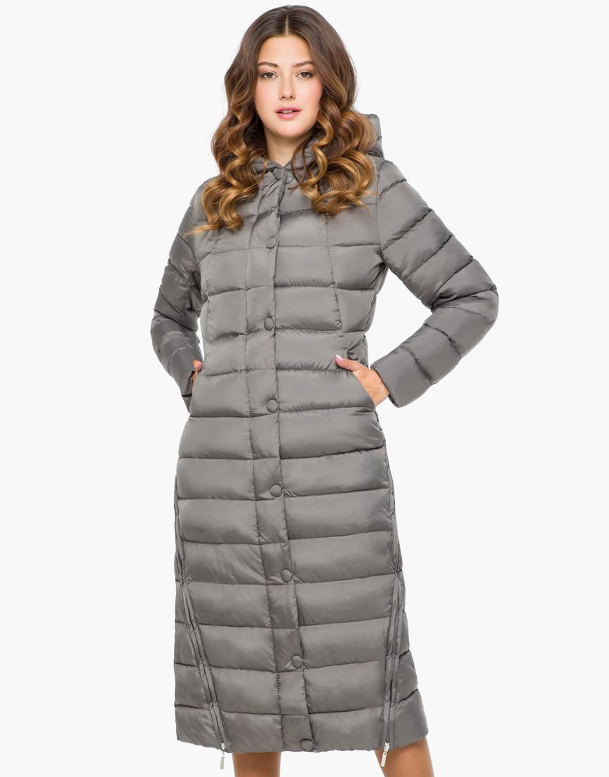 Куртка серая женская теплая модель 925