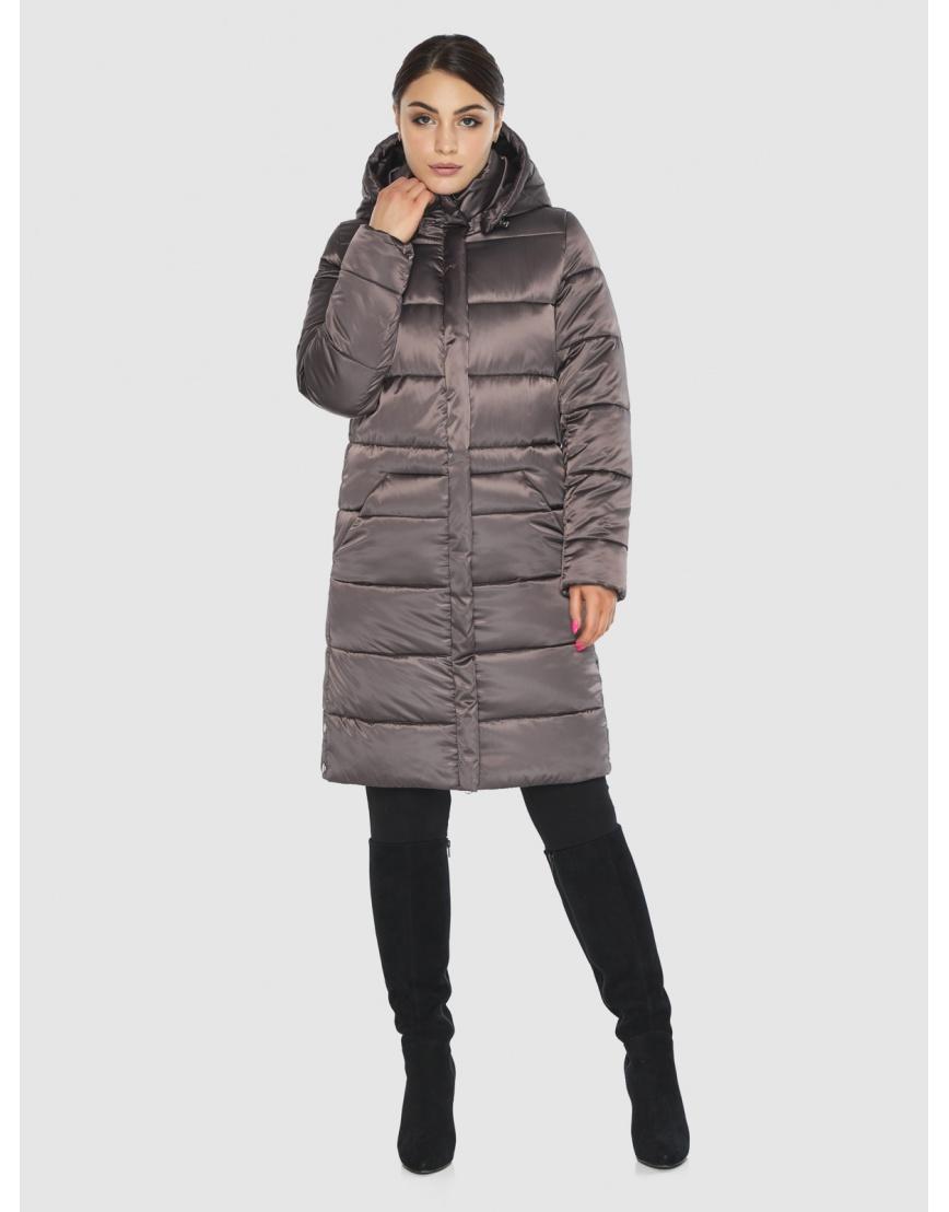 Длинная капучиновая женская куртка Wild Club 584-52 фото 1