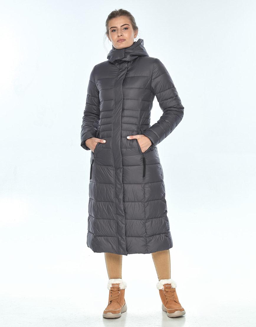 Куртка Ajento серая женская комфортная 21375 фото 2