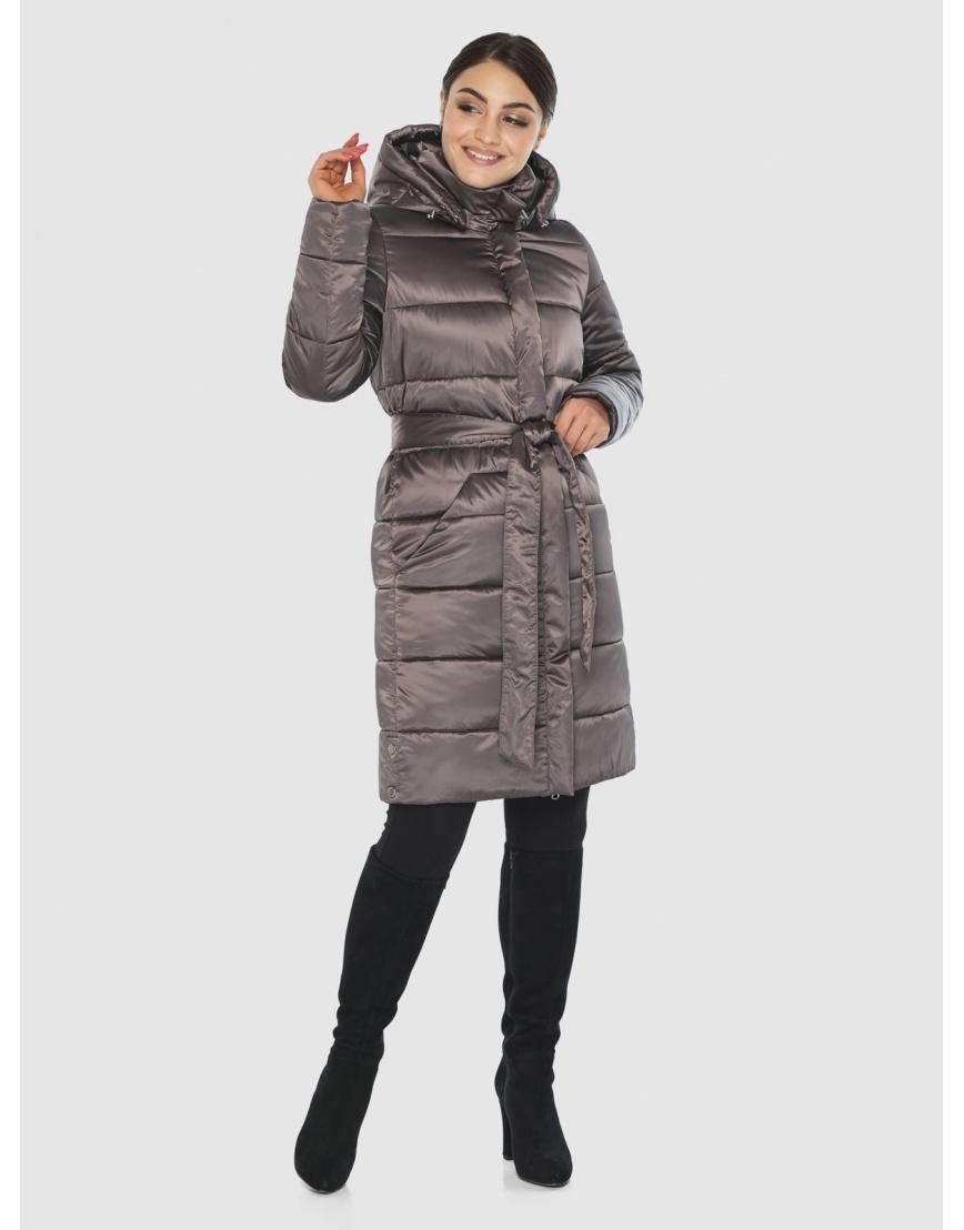 Длинная капучиновая женская куртка Wild Club 584-52 фото 2