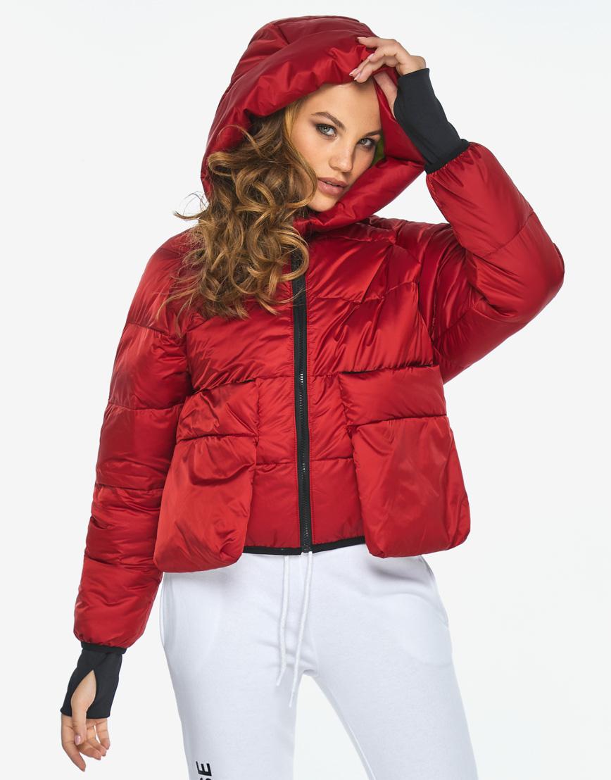 Куртка пуховик Youth трендовый молодежный рубиновый модель 26370 фото 1