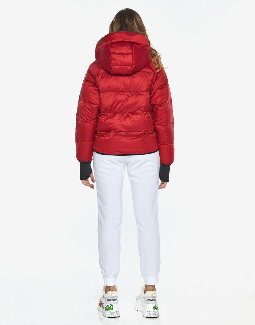 Куртка пуховик Youth трендовый молодежный рубиновый модель 26370 фото 7