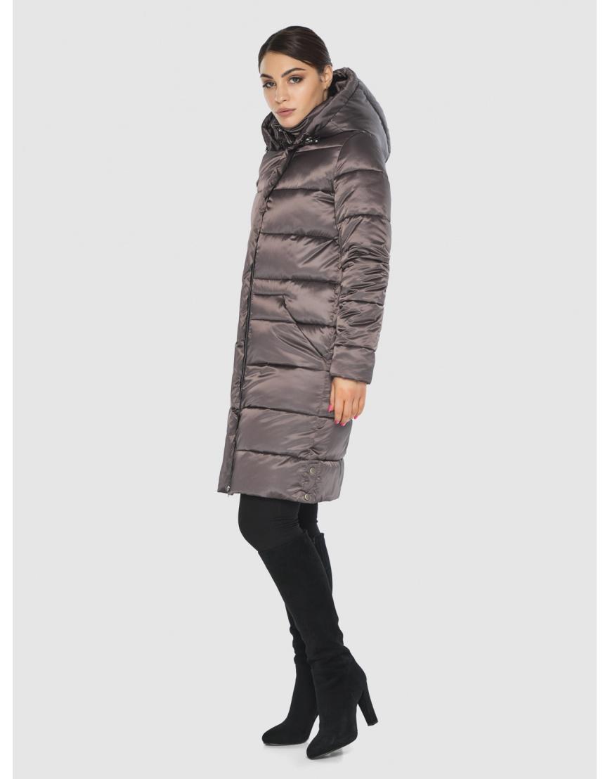 Длинная капучиновая женская куртка Wild Club 584-52 фото 6