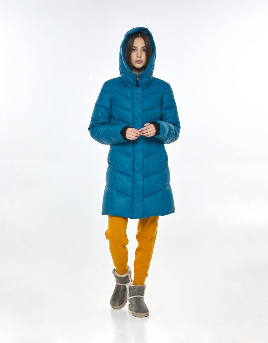 Аквамариновая трендовая куртка Vivacana женская осенняя 7821/21 фото 2