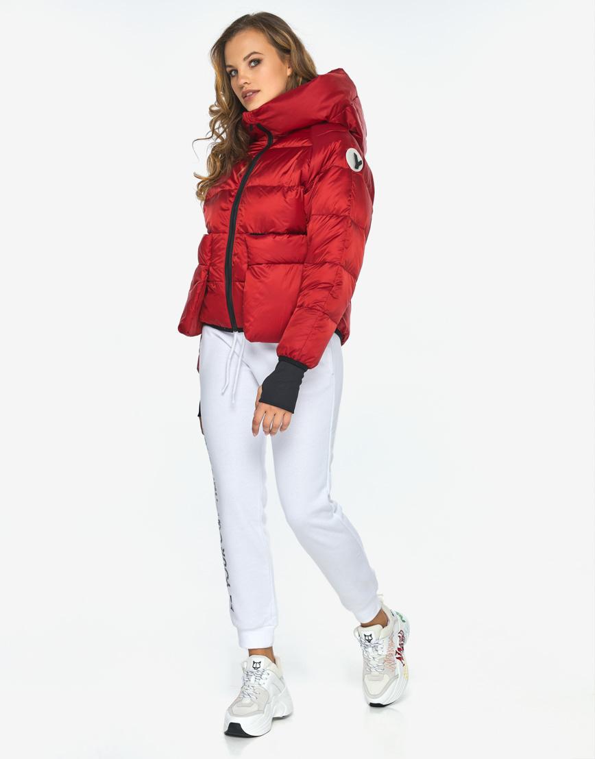 Куртка пуховик Youth трендовый молодежный рубиновый модель 26370 фото 6