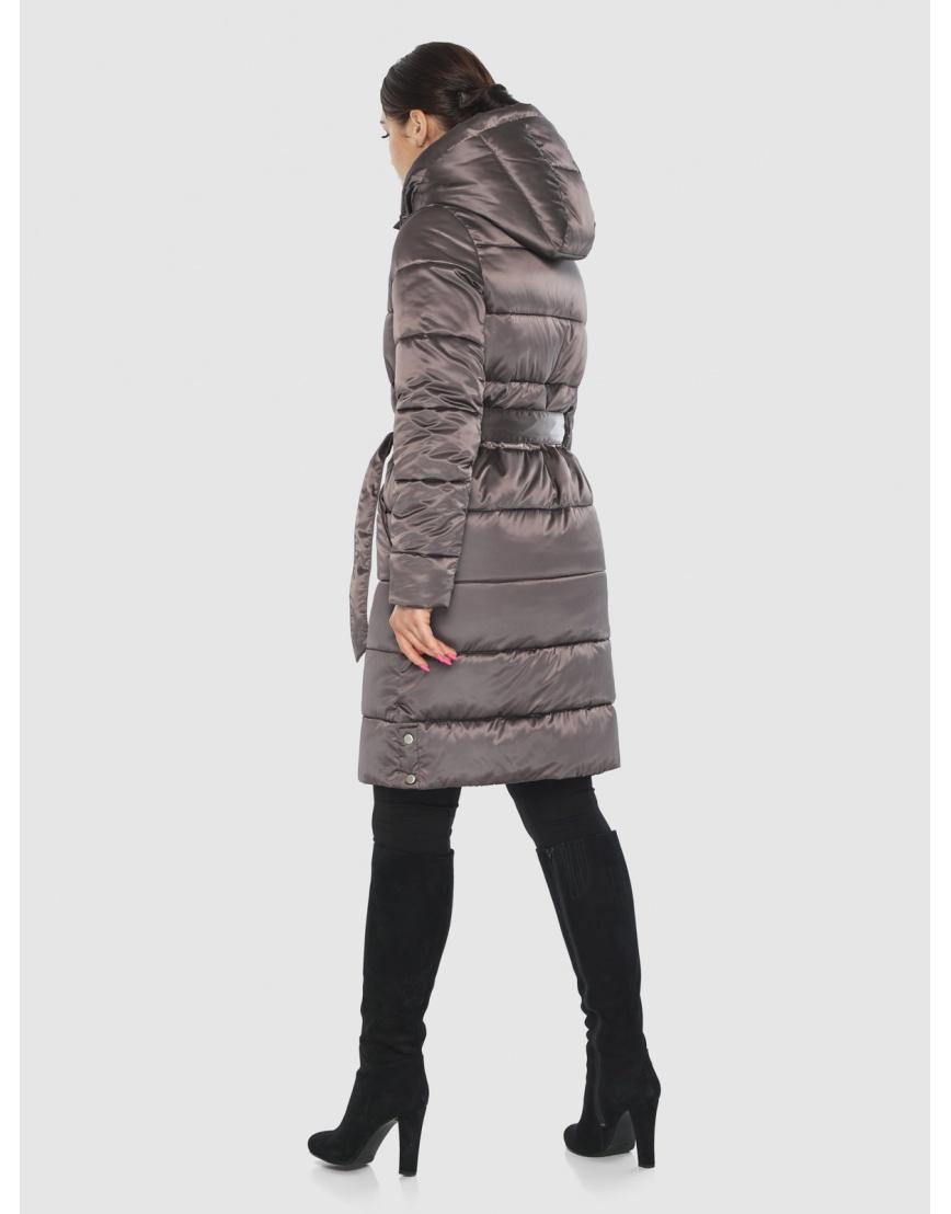 Длинная капучиновая женская куртка Wild Club 584-52 фото 4