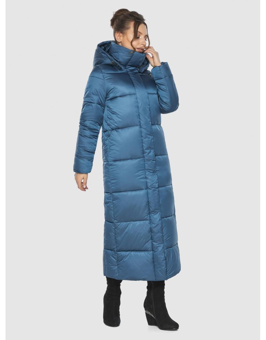 Куртка зимняя прямого силуэта подростковая Ajento аквамариновая 21972 фото 5