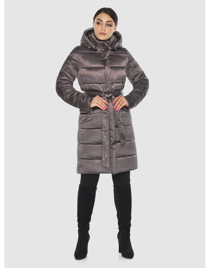 Длинная капучиновая женская куртка Wild Club 584-52 фото 3