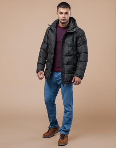 Куртка дизайнерская подростковая темно-серая модель 25460 оптом