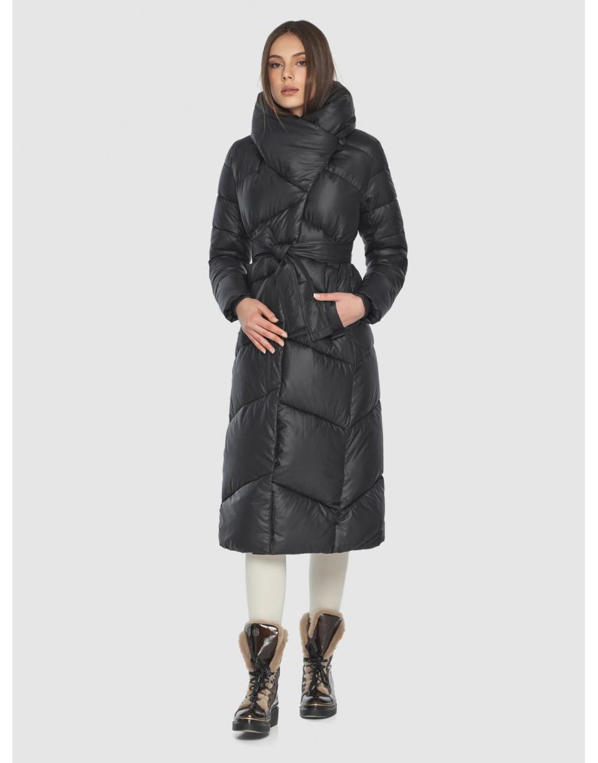 Женская современная куртка Wild Club чёрная 514-35 фото 6