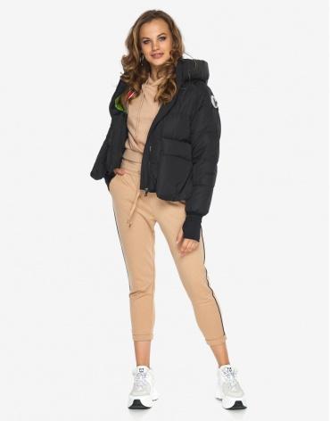 Пуховик куртка Youth молодежная черная качественная модель 26370 фото 1