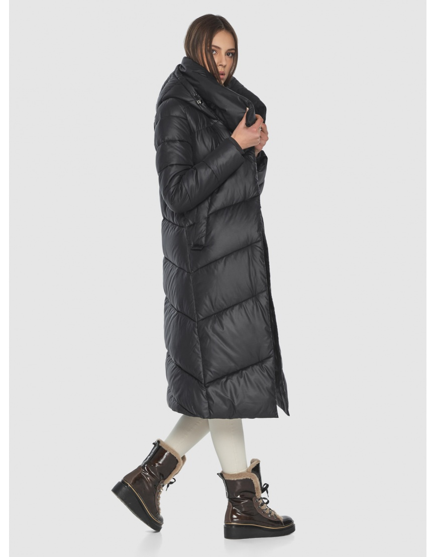 Женская современная куртка Wild Club чёрная 514-35 фото 4